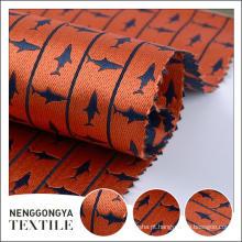 Logotipo personalizado Diferentes tipos de fio Confortável tecido tingido jacquard