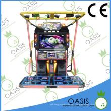 Máquina de jogo da dança da arcada do centro do divertimento