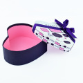 Heart Shape Cardboard Gift Box with Bow Tie