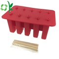 Durable Silicone Ice Cube Maker Brickor med lock