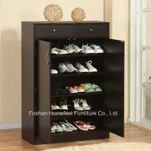 Cabinet de rangement en bois noir à 5 tablettes