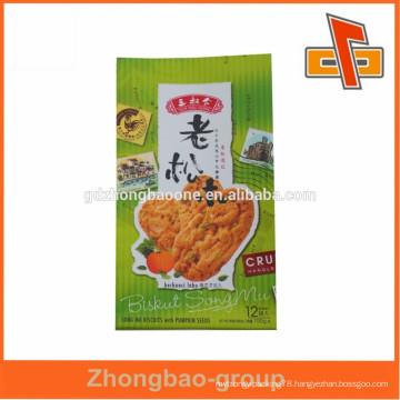 Heat sensitive side gusset vacuum plastic bag for biscuit packaging