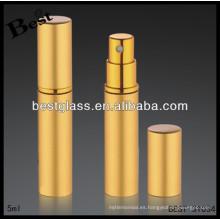 Botella de perfume ambarina del metal 5/20/40 / 80ml, perfume katy perry de aluminio, perfume katy perry con la impresión