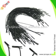 Factory directly shipping high quality black color nylon rope handle with plastic tipping