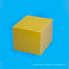 Folha laminada amarela da fibra de vidro da cola Epoxy FR4