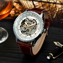 custom fashion factory direct case skeleton wrist watch