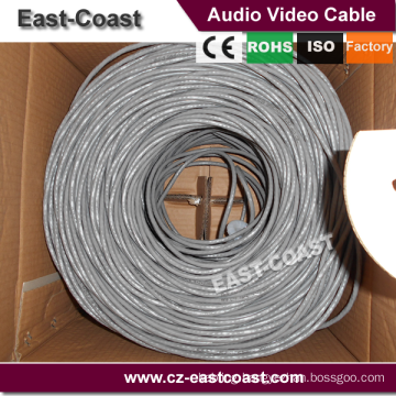 Preminum UTP solid cable 23awg Lan networking cable 90M Fluke testing EN50173 PL Class E