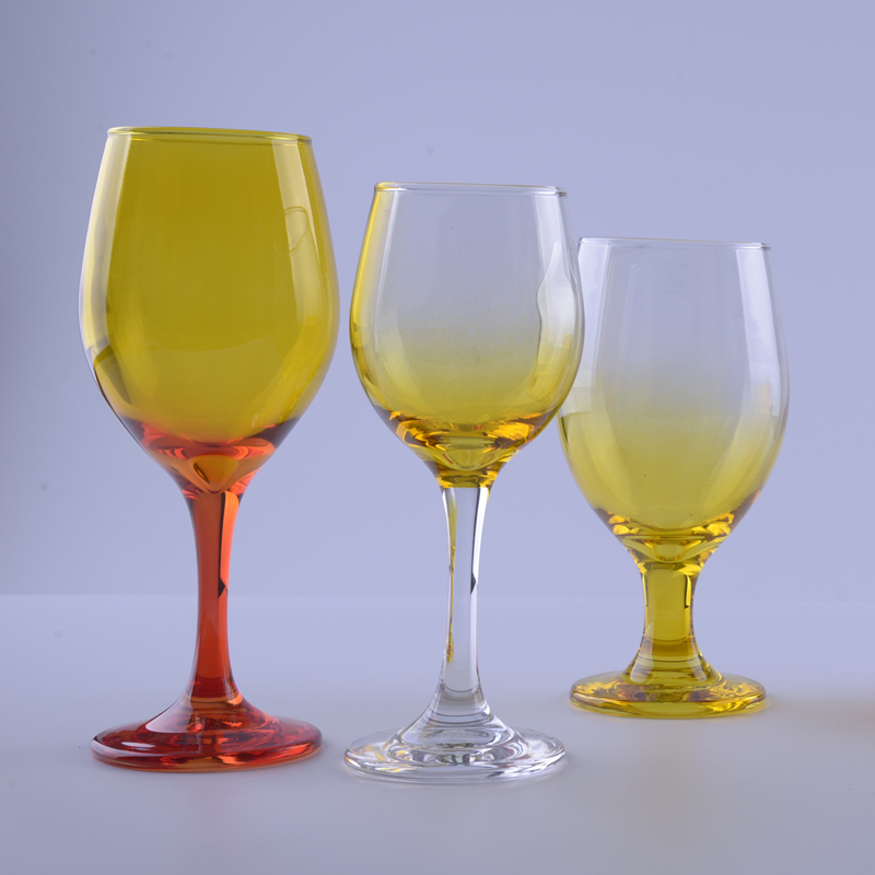 Ombre Colored Glass Goblet