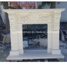 Blanco Chimenea de mármol antiguo (SY-MF223)