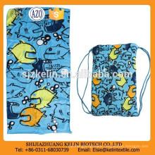 easy carrying microfiber reactive printing beach towel backpack