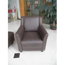 Sofá de salón con sofá moderno de cuero genuino (457)