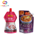 Custom Printed Doypack Sauce Packaging Plastic With Spout