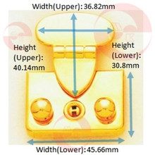Cerradura caliente de la caja del rectángulo de la venta del metal de la aleación del cinc