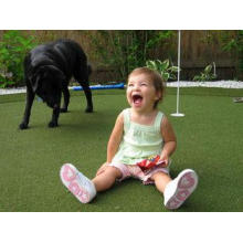Waterproof Soft Playground Artificial Grass Plastic Green I