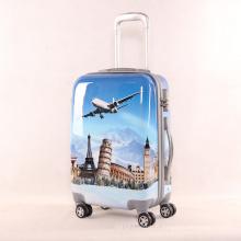 Leisure Suitcase Girl PU Bagagerie Impression Voyage Universal Wheel 2024 pouces Une génération