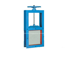 Plaza de la guillotina válvula válvula de compuerta deslizante