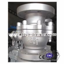 Углеродистая сталь Wcb 2PCS PTFE уплотнения плавающий шаровой клапан