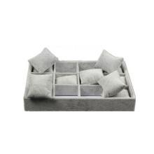 Custom Grau Samt Uhr Tray Kissen Inserts Box