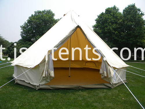 Canvas camp tents