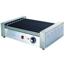 Hotel Stainless Steel Commercial Hot-Dog Grill Machine 9-Ro