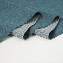 Melange Polyester Cotton Fabric Double Knitted
