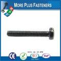 Hecho en Taiwán Acero inoxidable Negro Nylon Binding cabeza máquina tornillo