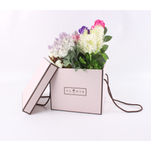 Square flower packaging box cardboard with lid