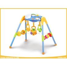 Ensembles de gymnastique de jouets de bébé de qualité avec 3 hochets et musique pour le bébé