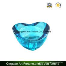 Regalo de cristal impreso del tenedor de vela de la forma del corazón para el día de tarjeta del día de San Valentín