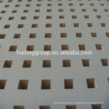 Placa de gesso perfurada branca de alta qualidade com preço de fábrica para a venda quente