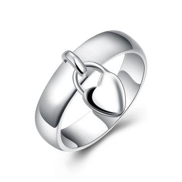 Heißer Verkaufs-kleiner Schlüsselfrauen-Ring-Silber überzog Art- und Weisering, der in Yiwu Zhejiang gebildet wird