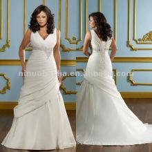 NY-2416 Duchess satiné avec robe de mariée en marbrure
