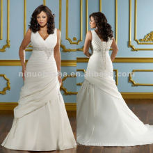 NY-2416 Duchess satin with embroidery wedding dress