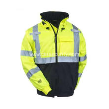 Men's High-Visibility Waterproof  Hooded Jackes