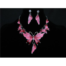Hot Sale Pink Blue Green White Statement Necklace Ear Studs 2017