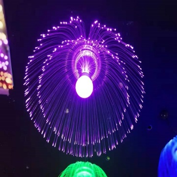Qualle LED-Dekorationsfaserlicht