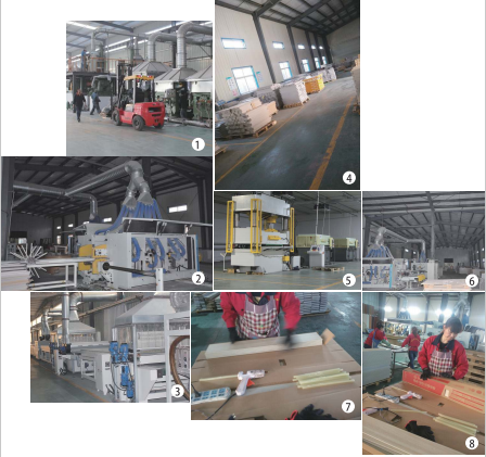 SPC flooring production line