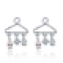 Women′s Fashion Cute 925 Sterling Silver Hanger-Shaped Earrings
