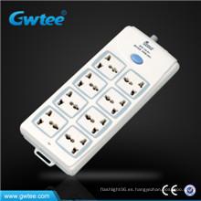 Hecho en China más barato de 8 vías interruptor universal y toma de corriente