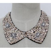 Dame Modeschmuck Pailletten Choker Halskette Kragen (JE0139-2)