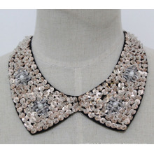 Lady Fashion Jewelry Sequin Choker Necklace Collar (JE0139-2)