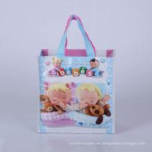 bolso de plástico no tejido de las compras del supermercado