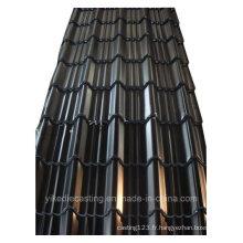 Feuille de toiture en acier ondulée galvanisée par couleur noire (960Model)