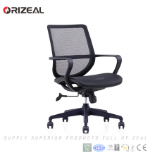 Orizeal wholesale price low back office chair price ergonomic fabric office chair with net back(OZ-OCM031B)
