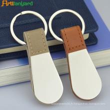Porte-clés en cuir avec porte-clés