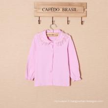 bébé filles T-shirt / chemise de descente / dentelle col en tissu T-shirt
