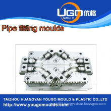 Plastic mold supplier for standard size pipe fittings mould in taizhou China