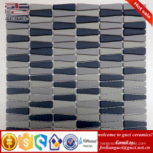 chinese supplier Strip Matte finish home wall crystal glass mosaic tile