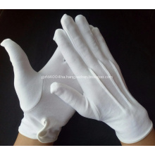 Military Formal Cotton White Nylon Parade Gloves Usher