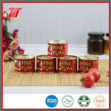 Pasta de tomate em conserva, molho de tomate